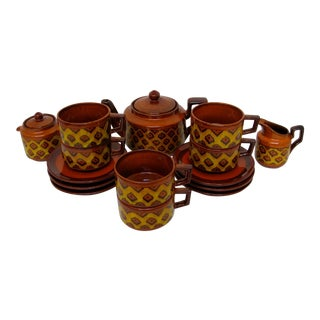 1970s Franco Santi Coffee Service, 17 Pieces For Sale