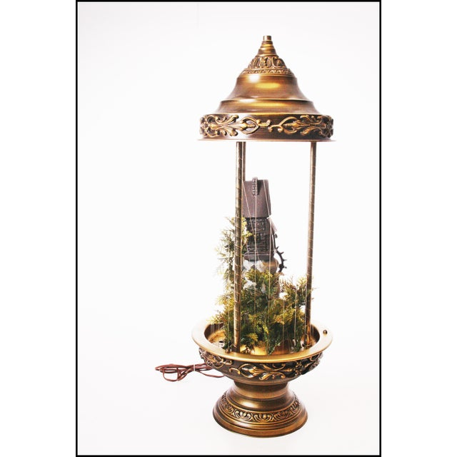 Mid Century Hollywood Regency Mineral Oil Rain Lamp - Image 6 of 11