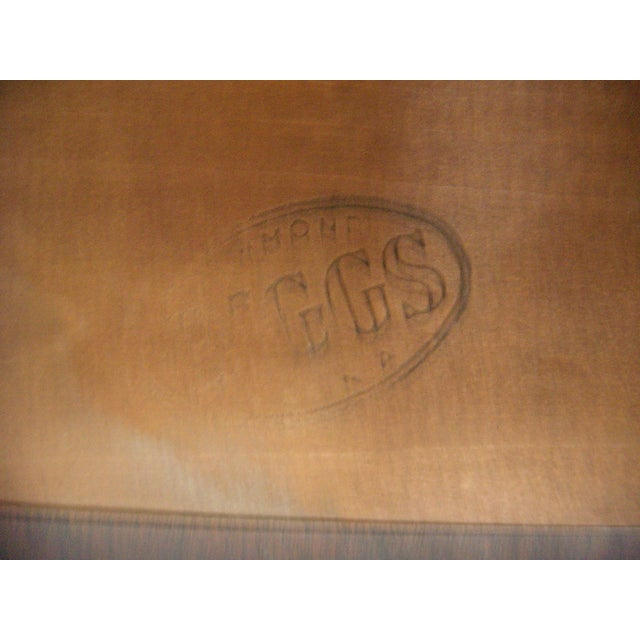 Gold Biggs Pembroke Chippendale Style Side or Tea Table With Leaves For Sale - Image 8 of 8