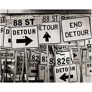 "Contemporary Original Black & White Photograph ""Detours"" by Jeffrey Glasser For Sale"