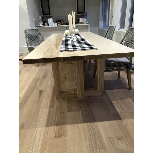 Country Custom Built Dining Room Table For Sale - Image 4 of 5