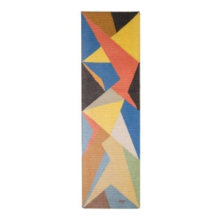 Dynamic Mid-Century Modernist Geometric Modernist Tapestry Wall Hanging