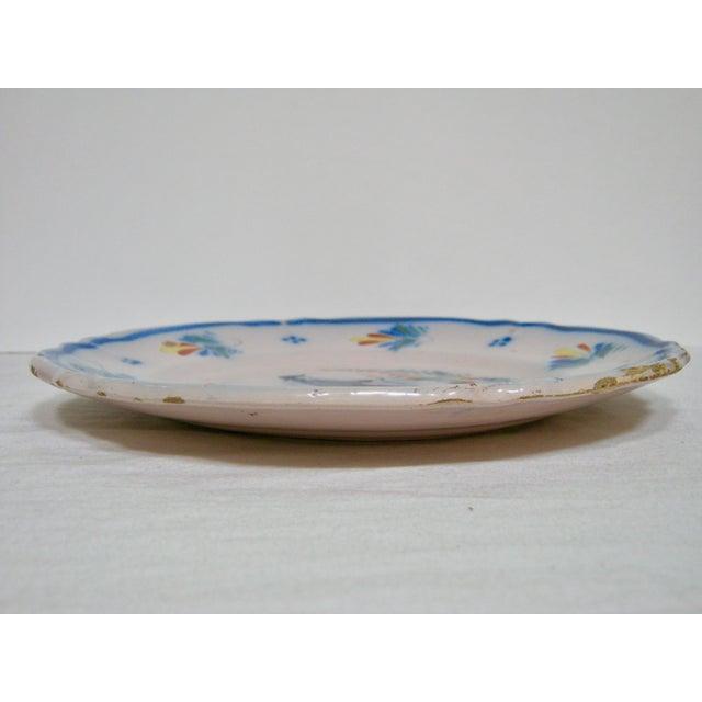 Antique Henriot Quimper Pottery Plate For Sale - Image 5 of 5