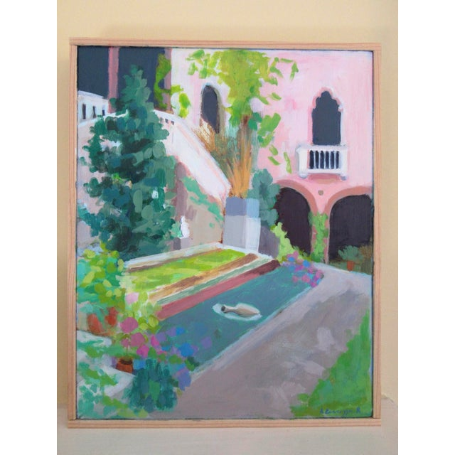 Abstract Expressionism Courtyard at the Gardner Museum by Anne Carrozza Remick For Sale - Image 3 of 6