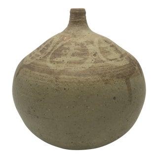 1960s Vintage Signed Studio Art Pottery Vase For Sale