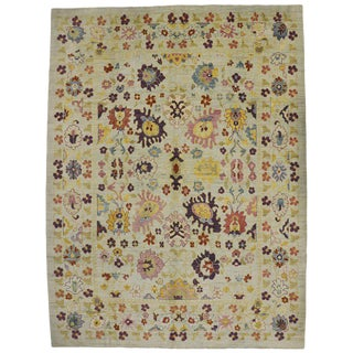 Contemporary Turkish Oushak Rug - 12′1″ × 16′1″ For Sale