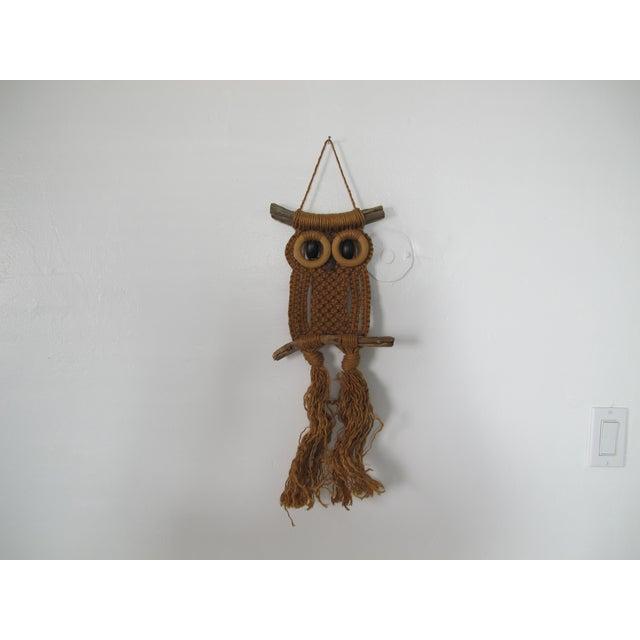 1970s Macrame Owl Wall Hanging - Image 2 of 5