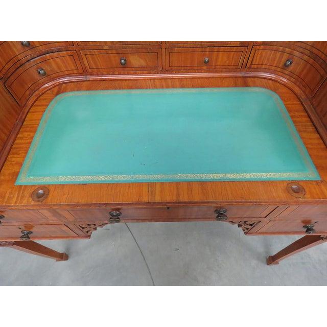Edwardian Carlton House Satinwood Writing Desk For Sale - Image 4 of 12