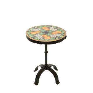 Addison Mizner Iron Tile Top Accent Table For Sale
