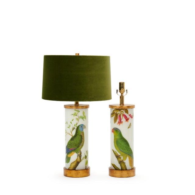 Liz Marsh Eden Parrots Table Lamps by Liz Marsh Designs - a Pair For Sale - Image 4 of 5