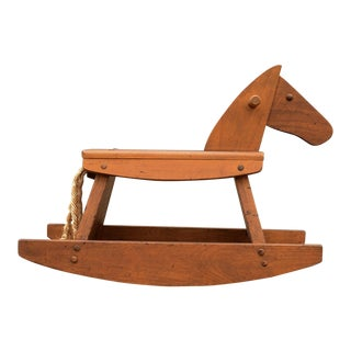 Vintage Danish Modern Montgomery Schoolhouse Rocking Horse For Sale