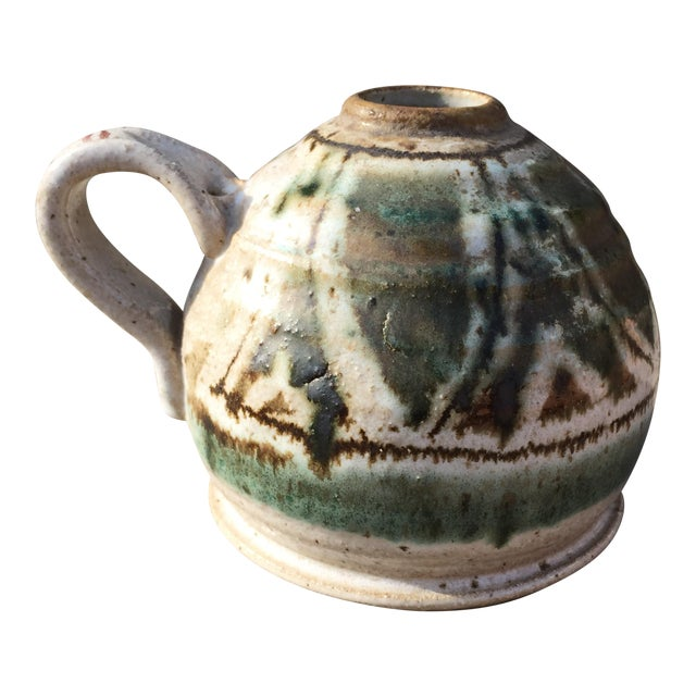Speckled Salt Glaze Studio Pottery Jug For Sale