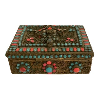 Antique Nepalese Trinket Box