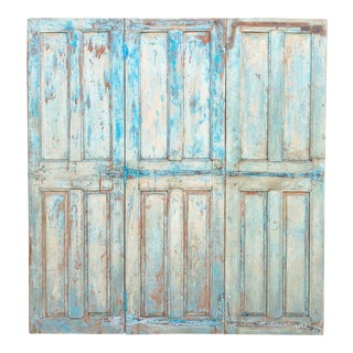Antique Indo-French Painted Divider Panel For Sale