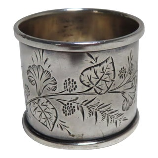 Classic American Mid Victorian Coin Silver Napkin Ring For Sale