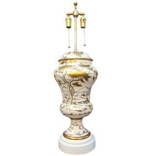 1950s Italian Zaccagnini Art Pottery Table Lamp For Sale