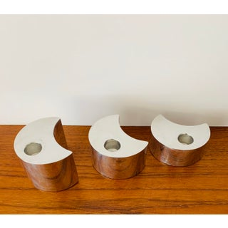 Nambe Studio Modernist Crescent Candle Holders - Set of 3 Preview