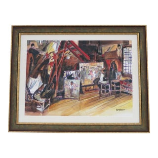 Abstract Expressionism Framed Painting by Armando For Sale