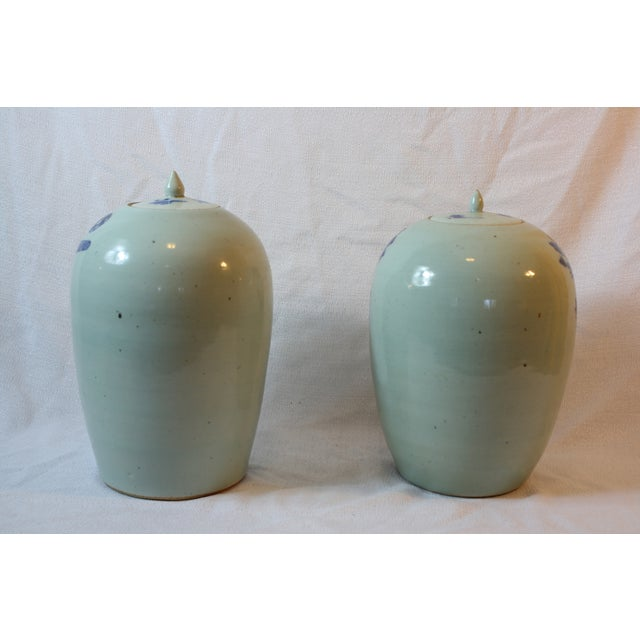 Antique Porcelain Covered Jar - Pair - Image 3 of 5