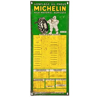 Vintage French Michelin Tire Sign