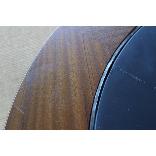 Mid-Century Modern Mahogany Coffee Table With Slate Top For Sale - Image 3 of 9