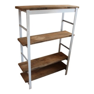 Mid-Century Inspired Industrial Handmade Bookcase