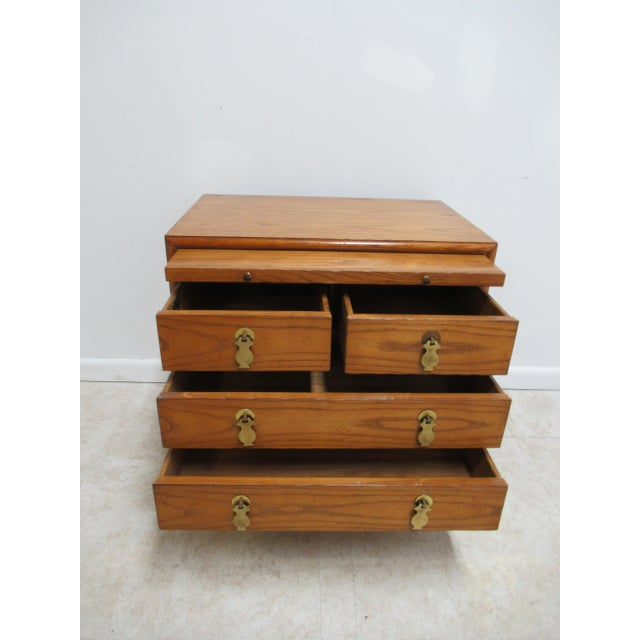1980s Vintage Century Furniture Asian Inspired Sobota Bachelors Chest For Sale - Image 12 of 13