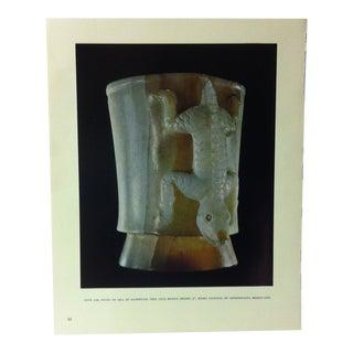 "Circa 1960 ""Onyx Jar"" Treasures of Ancient America Mounted Print For Sale"