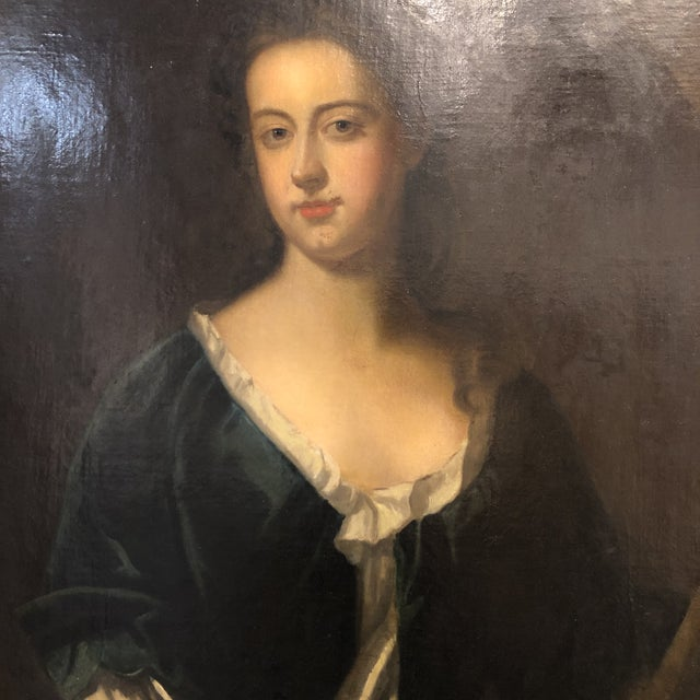 18th Century Portrait of a Noble Woman in Carved Gilt Frame For Sale In Atlanta - Image 6 of 13