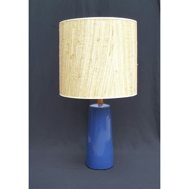 Gordon Martz Blue Pottery Table Lamp - Image 2 of 5