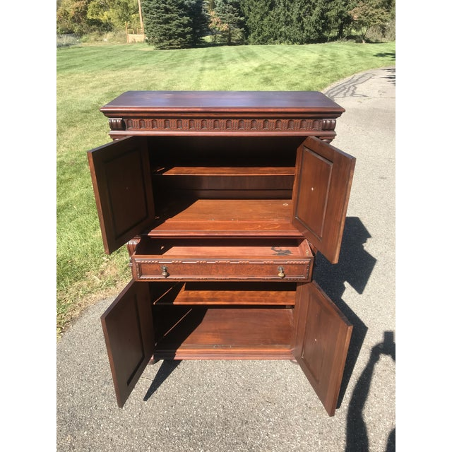 Art Nouveau Walnut Hutch by Berkey and Gay For Sale - Image 10 of 12