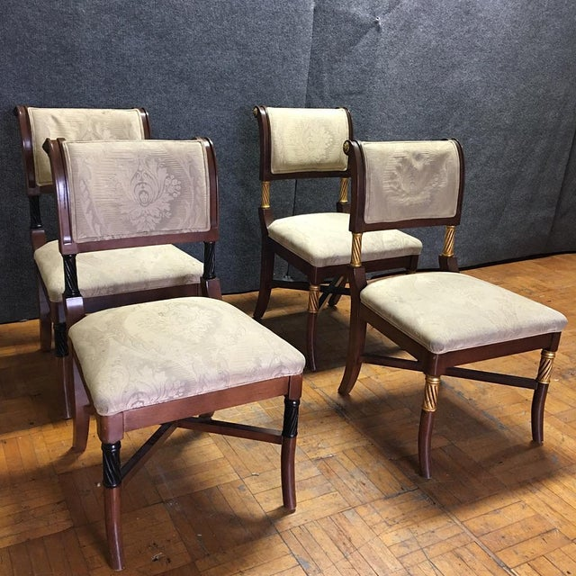 Wooden Ornate Dining Chairs - Set of 6 - Image 4 of 11