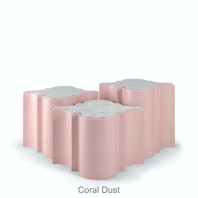 Sofia Nesting Tables, Set of 3 - Coral Dust For Sale In Los Angeles - Image 6 of 6