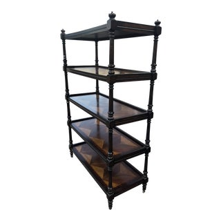 Traditional Century Furniture Crown Etagere For Sale