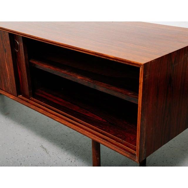 Brown Slim Rosewood Credenza by Haug Snekkeri For Sale - Image 8 of 11
