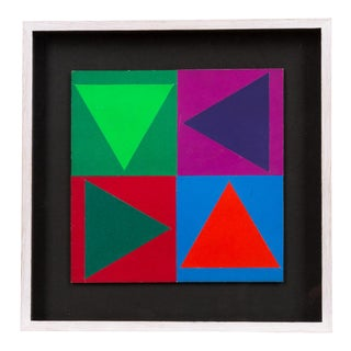 Victor Vasarely Collage For Sale