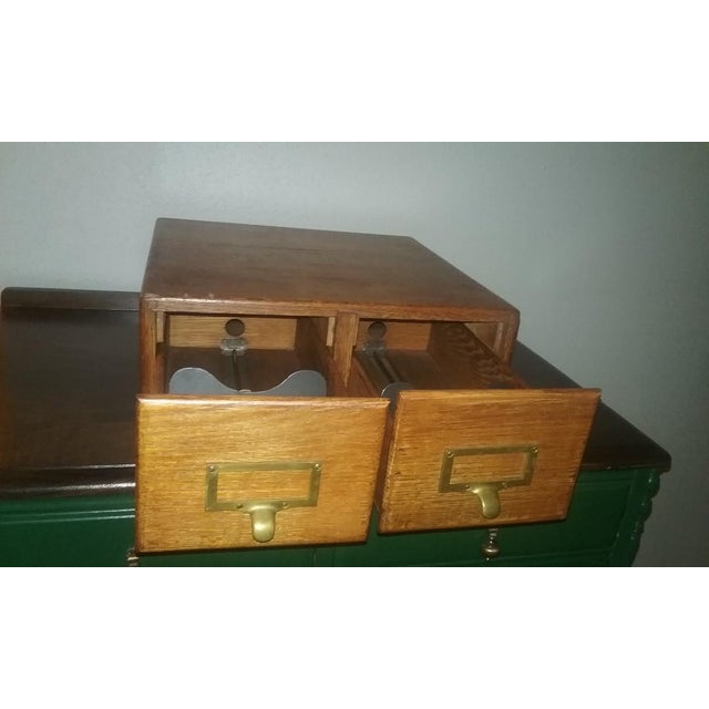 Early Twentieth Century Wooden Library Card Catalog For Sale - Image 4 of 13