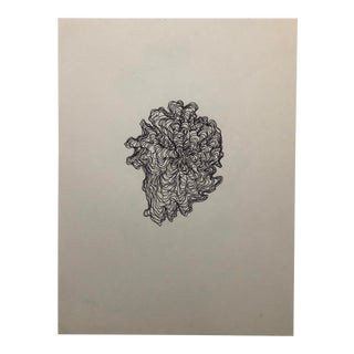 1991 Black and White Drawing by William Glen Davis For Sale