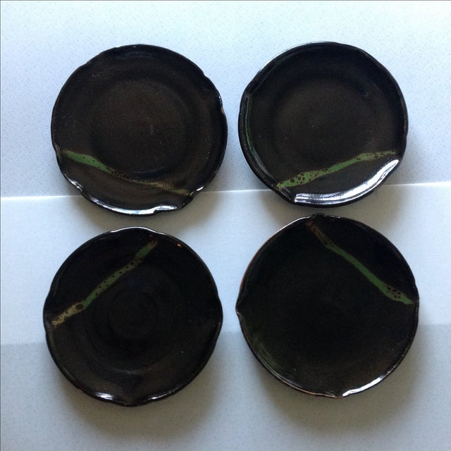 Modern Rustic Studio Pottery Plates - Set of 4 - Image 2 of 4