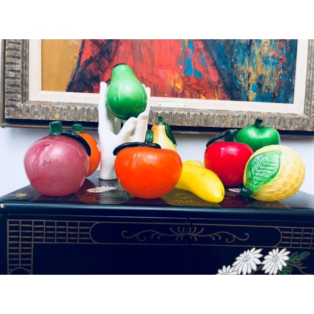 Ceramic Murano Glass Fruit & Porcelain Hands Figurines - Set of 10 For Sale - Image 7 of 7