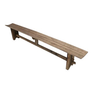 Antique French Farm House Table Bench For Sale