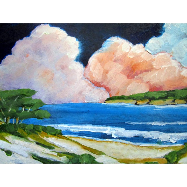 Carmel California Monterey Bay Clouds Landscape Oil Painting Lynne French Art For Sale In Los Angeles - Image 6 of 7