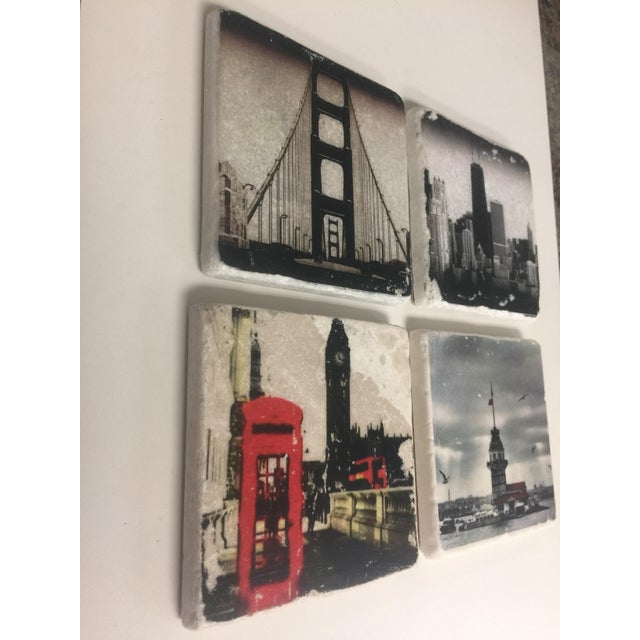 World Cities Coaster, Set of 4 For Sale - Image 4 of 9