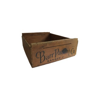 Antique Barr Packing Co. Sanger Calif. Wooden Crate