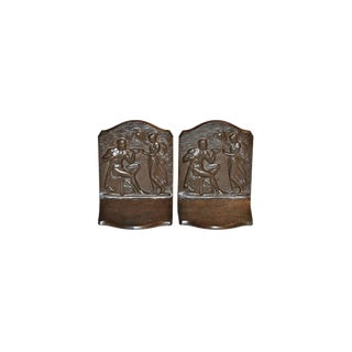 1925 Vintage Bradley and Hubbard Nectar of the Gods Bookends - a Pair For Sale