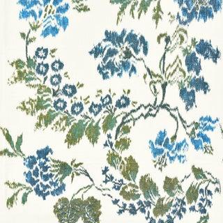 Scalamandre Kew Gardens Warp Print Fabric Sample For Sale