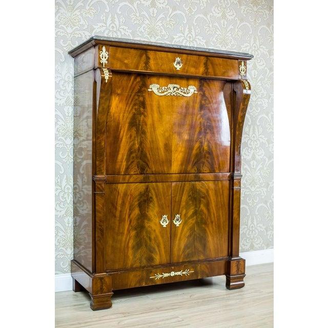 18th Century Empire Secretary Veneered with Mahogany For Sale - Image 10 of 13