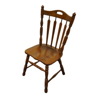 Tell City Solid Maple Arrow Back Dining Side Chair For Sale