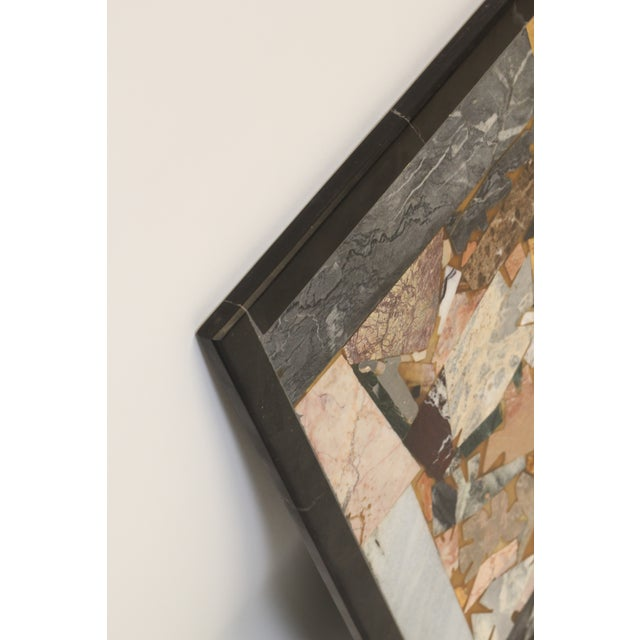 Mid-Century Modern Contemporary Inlaid Marble Piece For Sale - Image 3 of 5