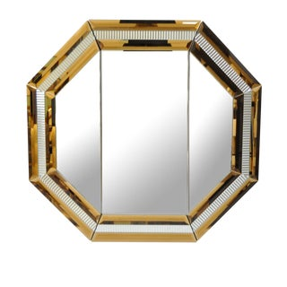 Modern Octagonal Tri Fold Vanity Mirror